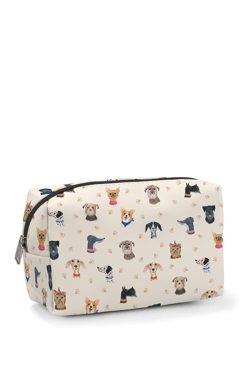 STUDIO OH Doggone Cute Cosmetic Loaf Pouch, Main, color, MULTI