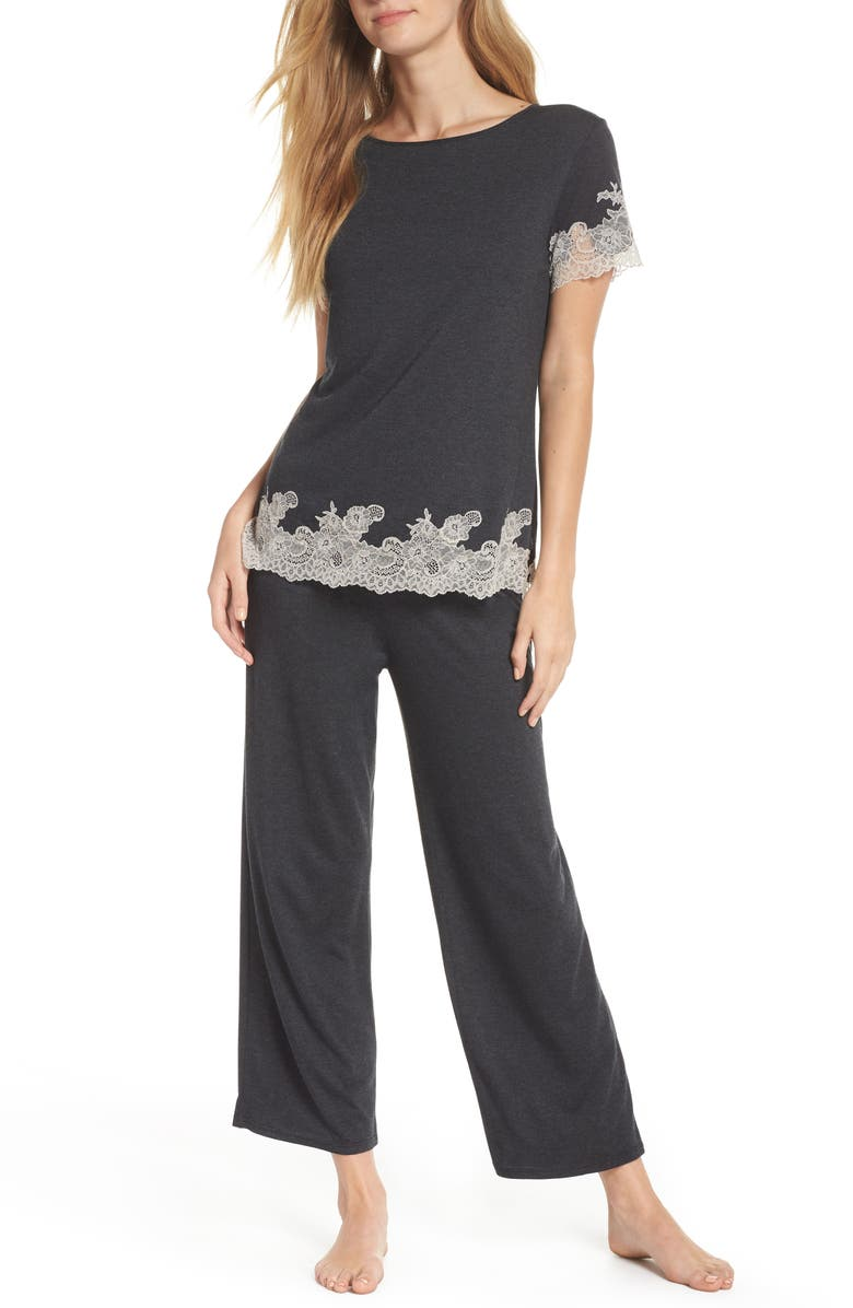 NATORI Luxe Shangri-La Pajamas, Main, color, ANTHRACITE