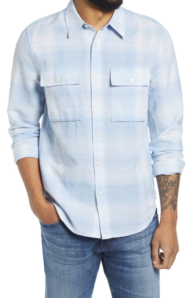 7 FOR ALL MANKIND<SUP>®</SUP> 7 For All Mankind Flap Pocket Button-Up Shirt, Main, color, POWDER BLUE