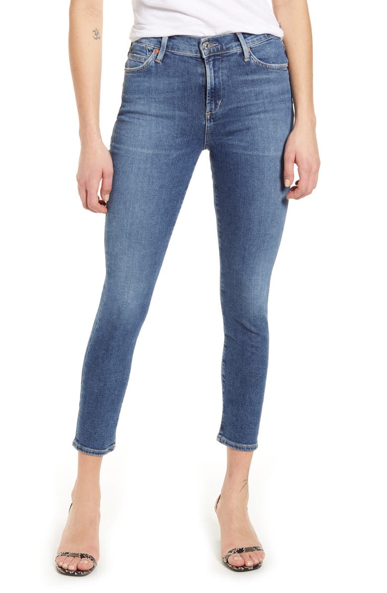 CITIZENS OF HUMANITY Rocket High Waist Crop Skinny Jeans, Main, color, STORY