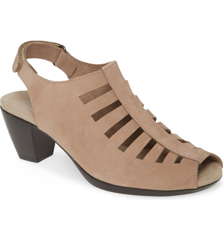 MUNRO 'Abby' Slingback Sandal, Main, color, TAUPE NUBUCK LEATHER