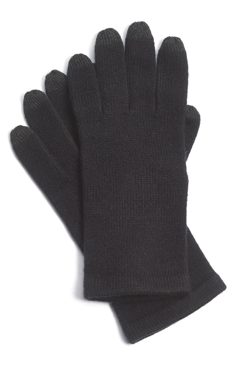 ECHO 'Allover Touch' Gloves, Main, color, 001