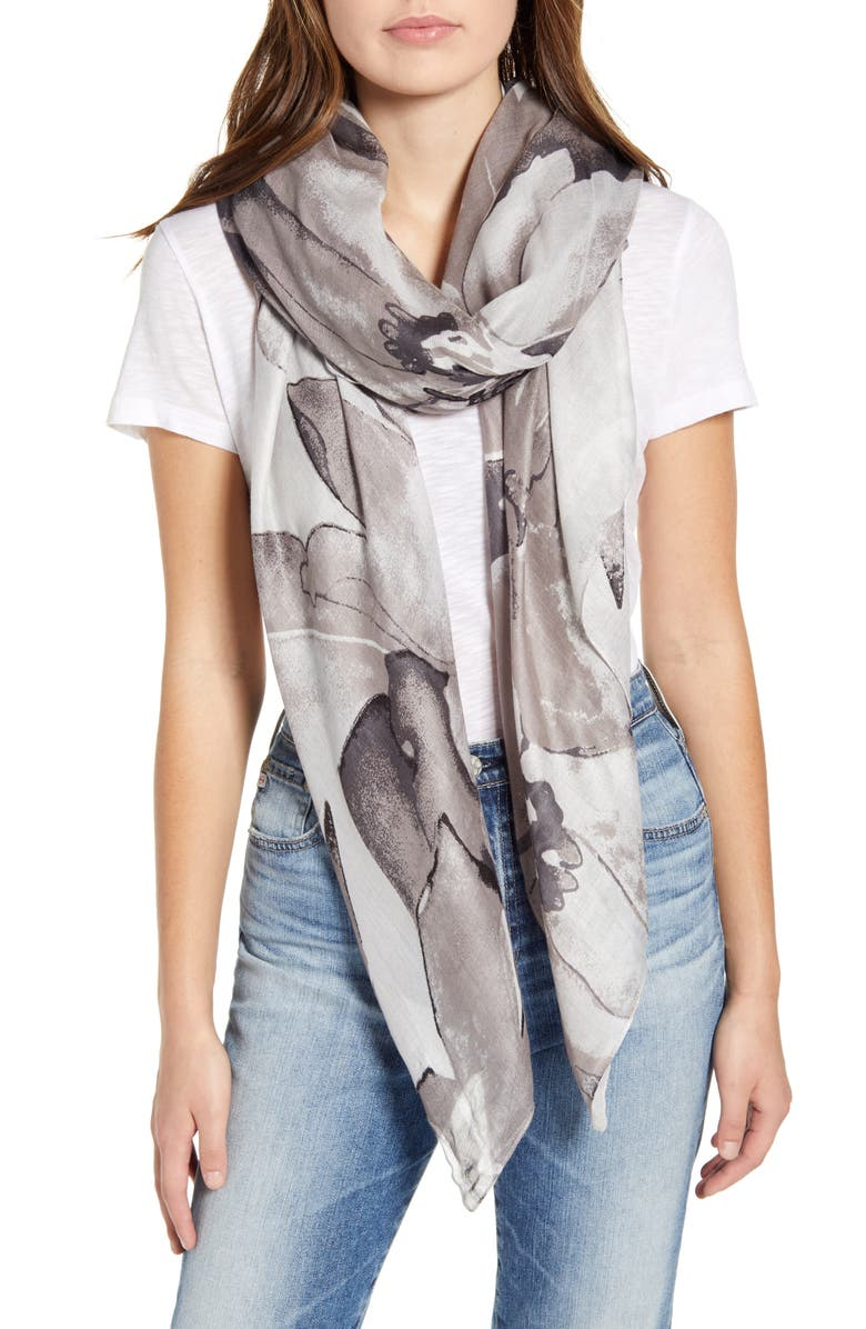 NORDSTROM Print Scarf, Main, color, 030