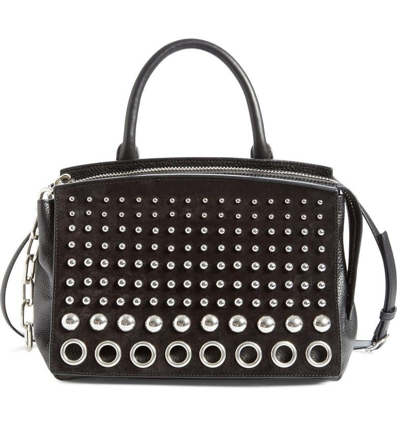 ALEXANDER WANG 'Attica' Studded Leather Tote, Main, color, Black