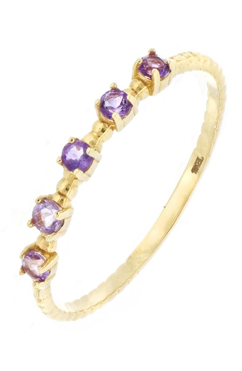 BONY LEVY 18K Yellow Gold 5 Amethyst Stack Ring, Main, color, 18KY