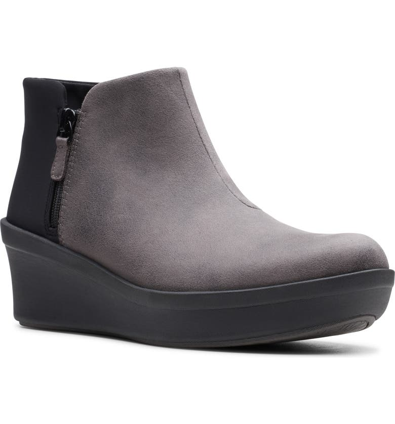 CLARKS<SUP>®</SUP> Step Rose Up Boot, Main, color, GREY FABRIC