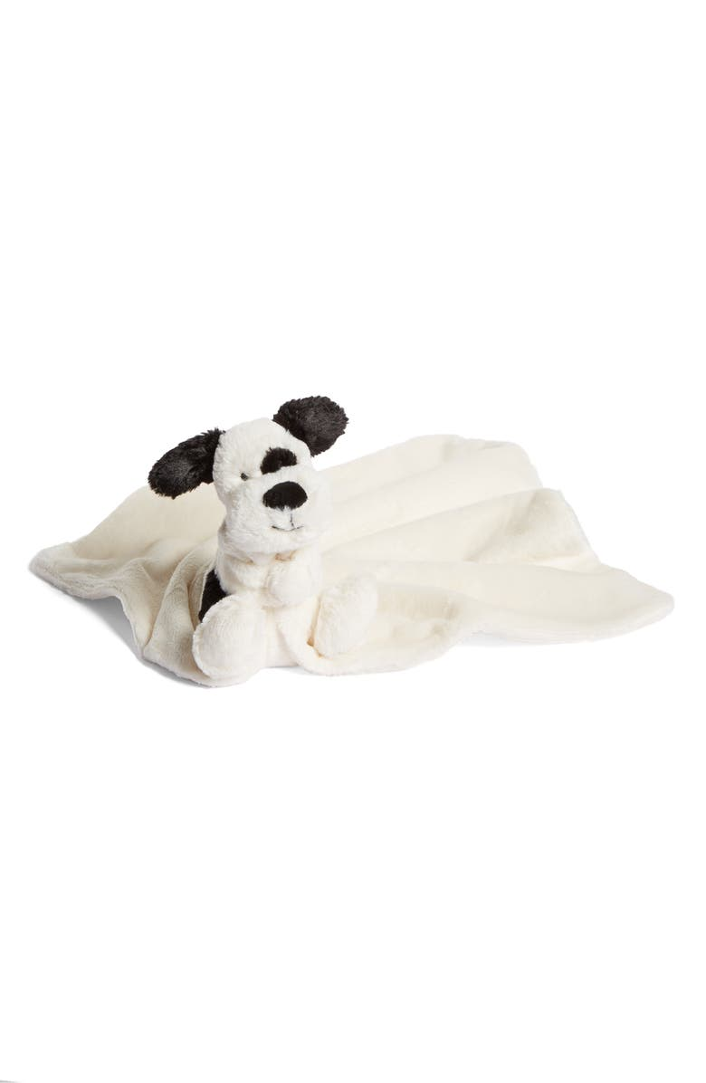 JELLYCAT Dog Soother Blanket, Main, color, BLACK AND CREAM