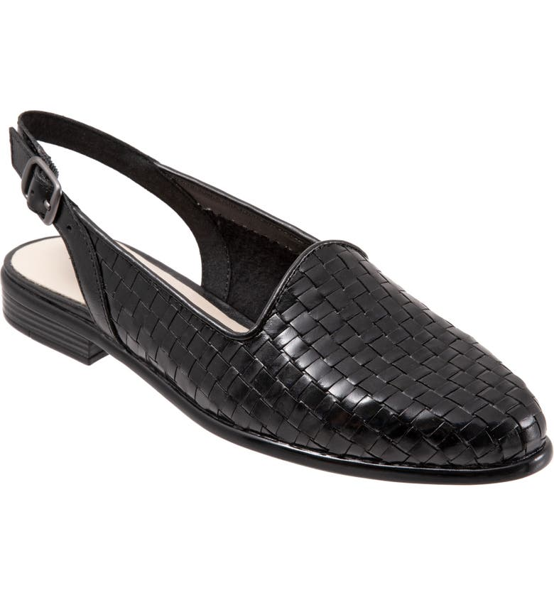 TROTTERS Lena Flat, Main, color, BLACK LEATHER