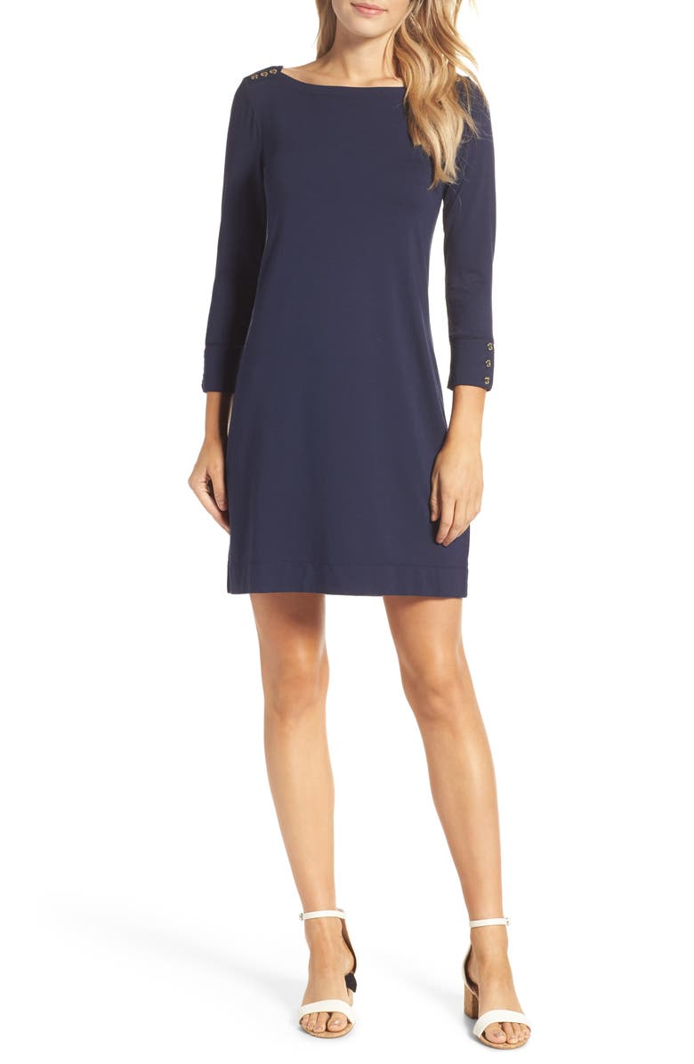 LILLY PULITZER<SUP>®</SUP> Sophie UPF 50+ Dress, Main, color, TRUE NAVY