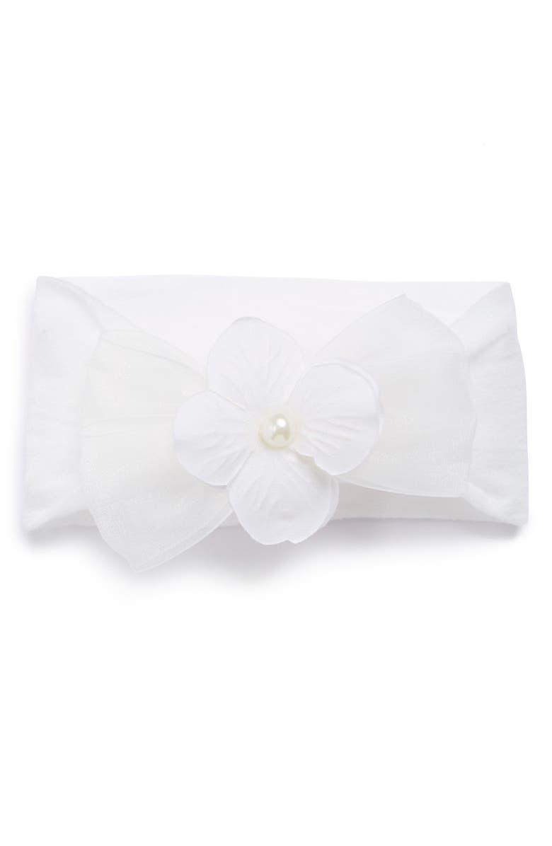 BABY BLING Classic Headband, Main, color, WHITE