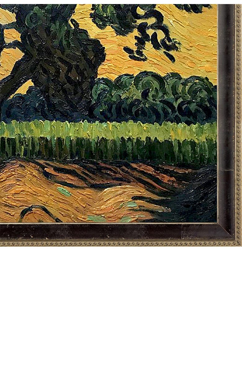 """OVERSTOCK ART Landscape with the Chateau of Auvers at Sunset Framed Oil Reproduction of an Original Painting by Vincent Van Gogh - 39""""x27"""", Main, color, MULTI"""