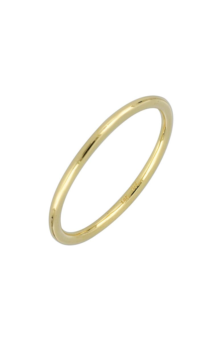 BONY LEVY 14K Gold Wedding Band Ring, 1.36mm, Main, color, 710