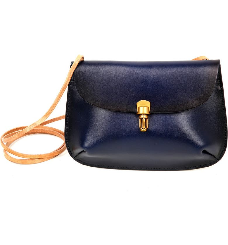 OLD TREND Ada Leather Crossbody Bag, Main, color, NAVY