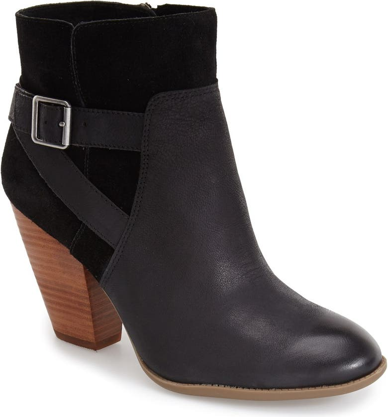 SOLE SOCIETY 'Hollie' Bootie, Main, color, BLACK LEATHER
