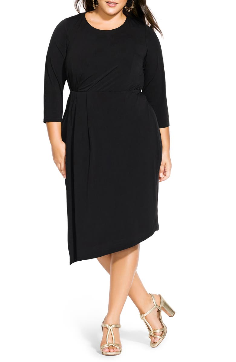 CITY CHIC Simply Stylish Dress, Main, color, 001