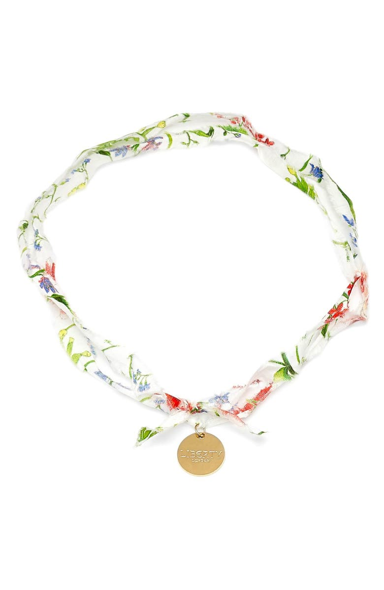 FLOWERS OF LIBERTY Floral Print Charm Necklace, Main, color, THEODORA