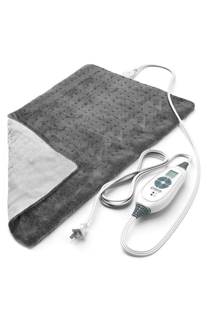 PURE ENRICHMENT PureRelief XL - King Size Heating Pad - Gray, Main, color, GRAY