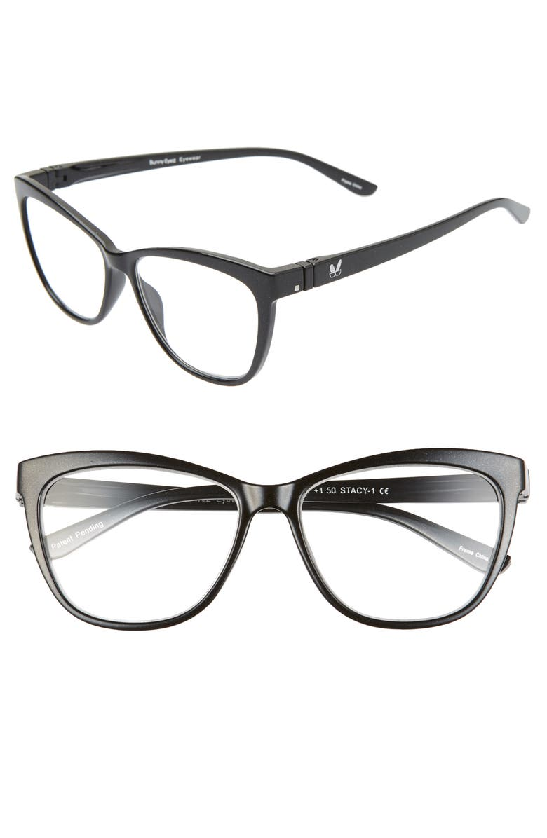 BUNNY EYEZ The Stacy 49mm Reading Glasses, Main, color, 001