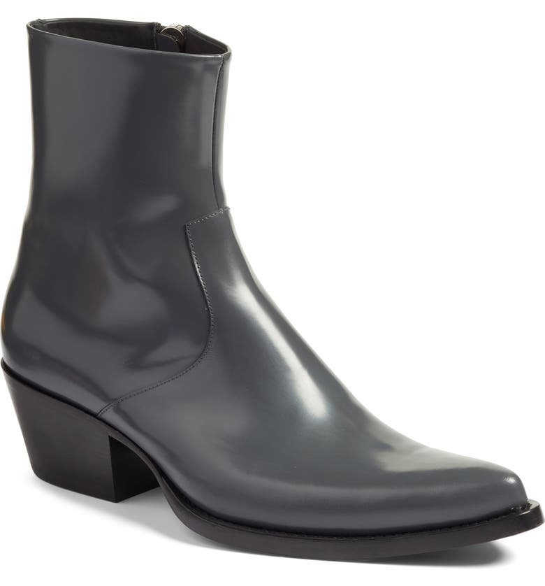 CALVIN KLEIN 205W39NYC Tex Boot, Main, color, ANTHRACITE LEATHER