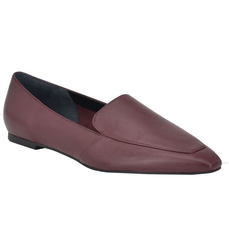 MARC FISHER LTD Enaba Square Toe Loafer, Main, color, MERLOT LEATHER