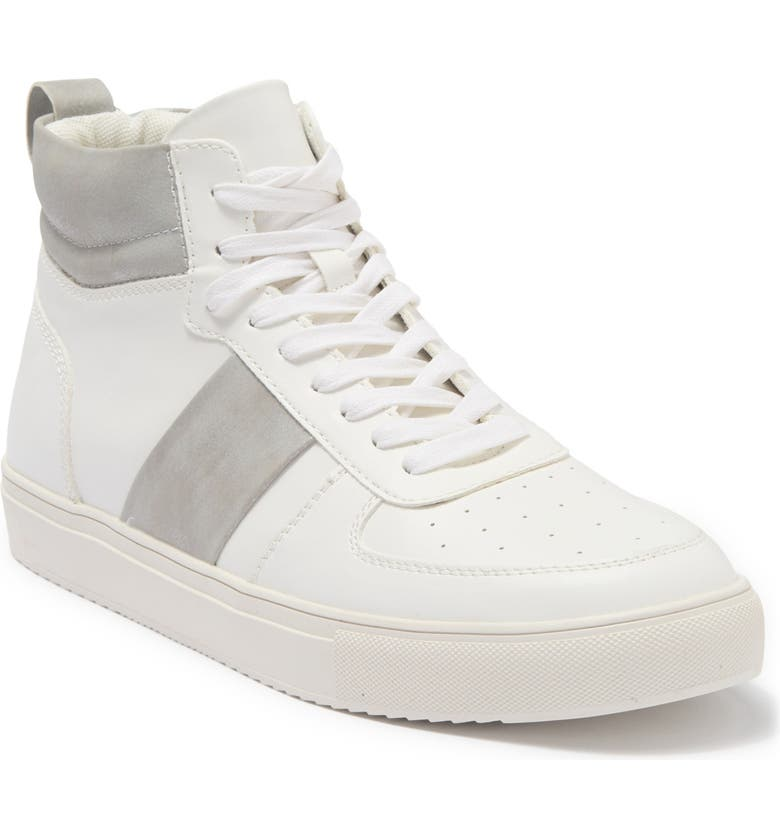ABOUND Jared High Top Sneaker, Main, color, WHT/GRY CRACKLE