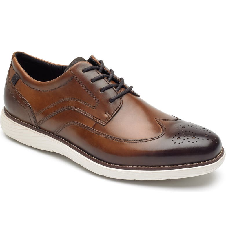 ROCKPORT Garett Wingtip, Main, color, COGNAC