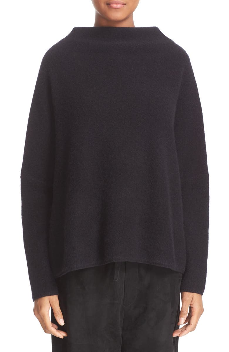 VINCE Funnel Neck Cashmere Sweater, Main, color, 001