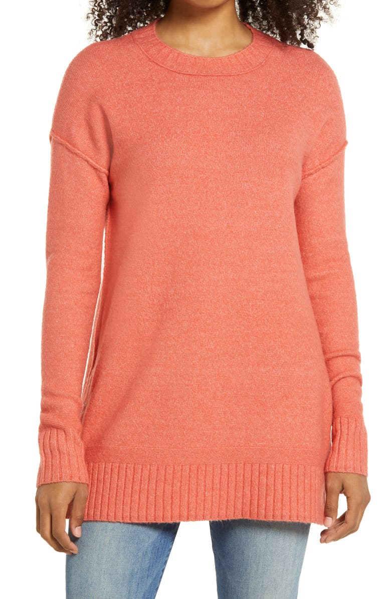 CASLON<SUP>®</SUP> Side Snap Tunic Sweater, Main, color, 958