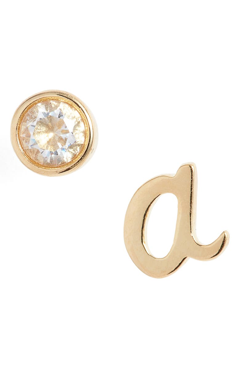 KATE SPADE NEW YORK one in a million mismatched stud earrings, Main, color, A/ GOLD