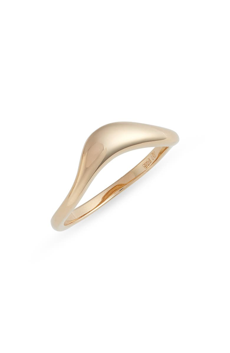 ARGENTO VIVO STERLING SILVER Curved Band Ring, Main, color, GOLD