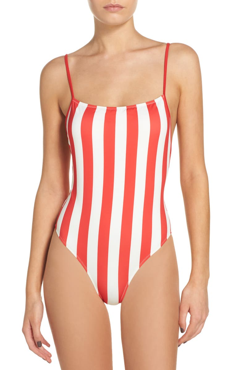 SOLID & STRIPED Striped & Solid Chelsea One-Piece Swimsuit, Main, color, 640