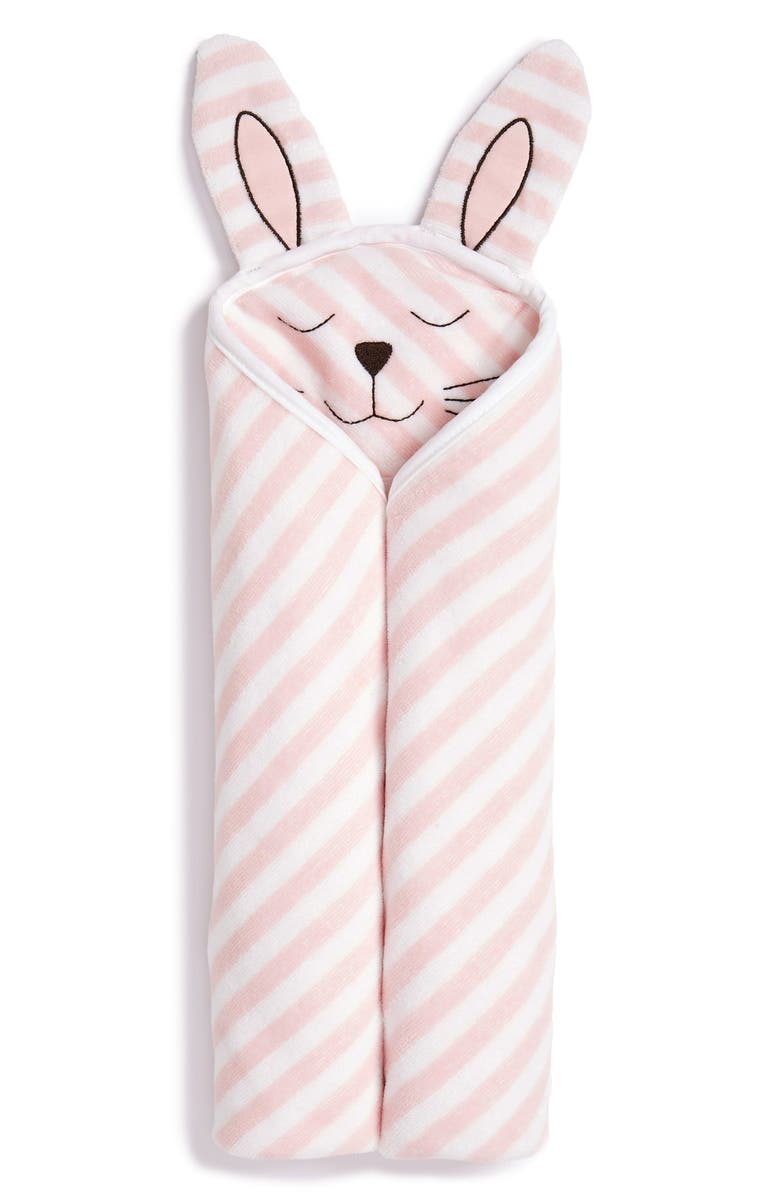 NORDSTROM BABY Hooded Animal Towel, Main, color, PINK BABY BUNNY