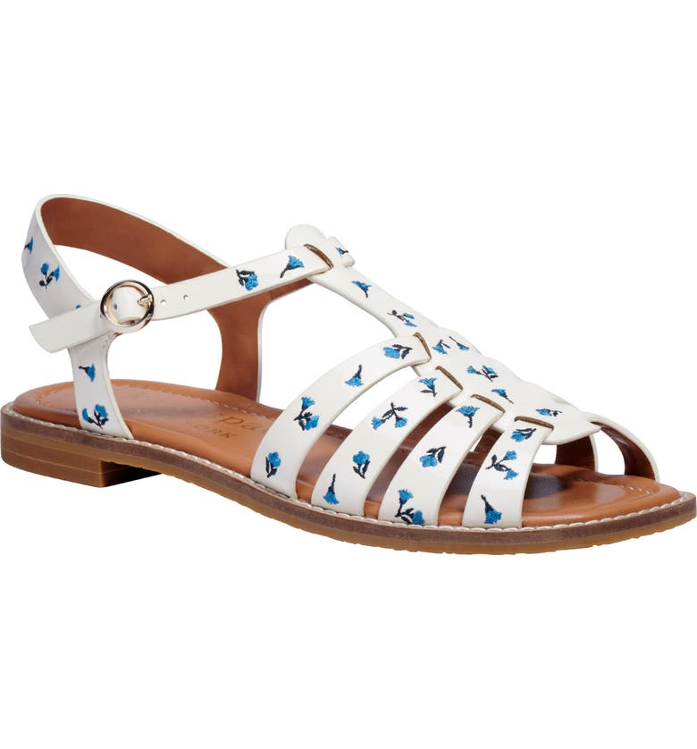 KATE SPADE NEW YORK wonder strappy sandal, Main, color, PARCHMENT MULTI LEATHER