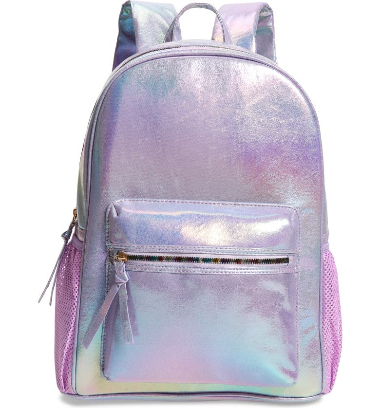 UNDER ONE SKY Ombré Faux Leather Backpack, Main, color, LILAC OMBRE