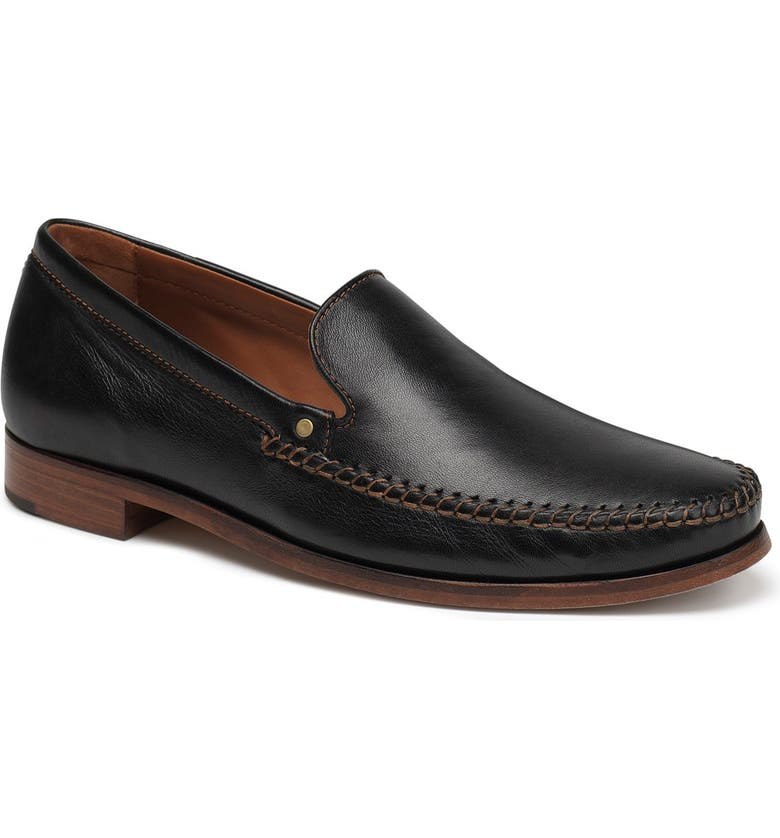 TRASK 'Seth' Loafer, Main, color, BLACK SHEEPSKIN