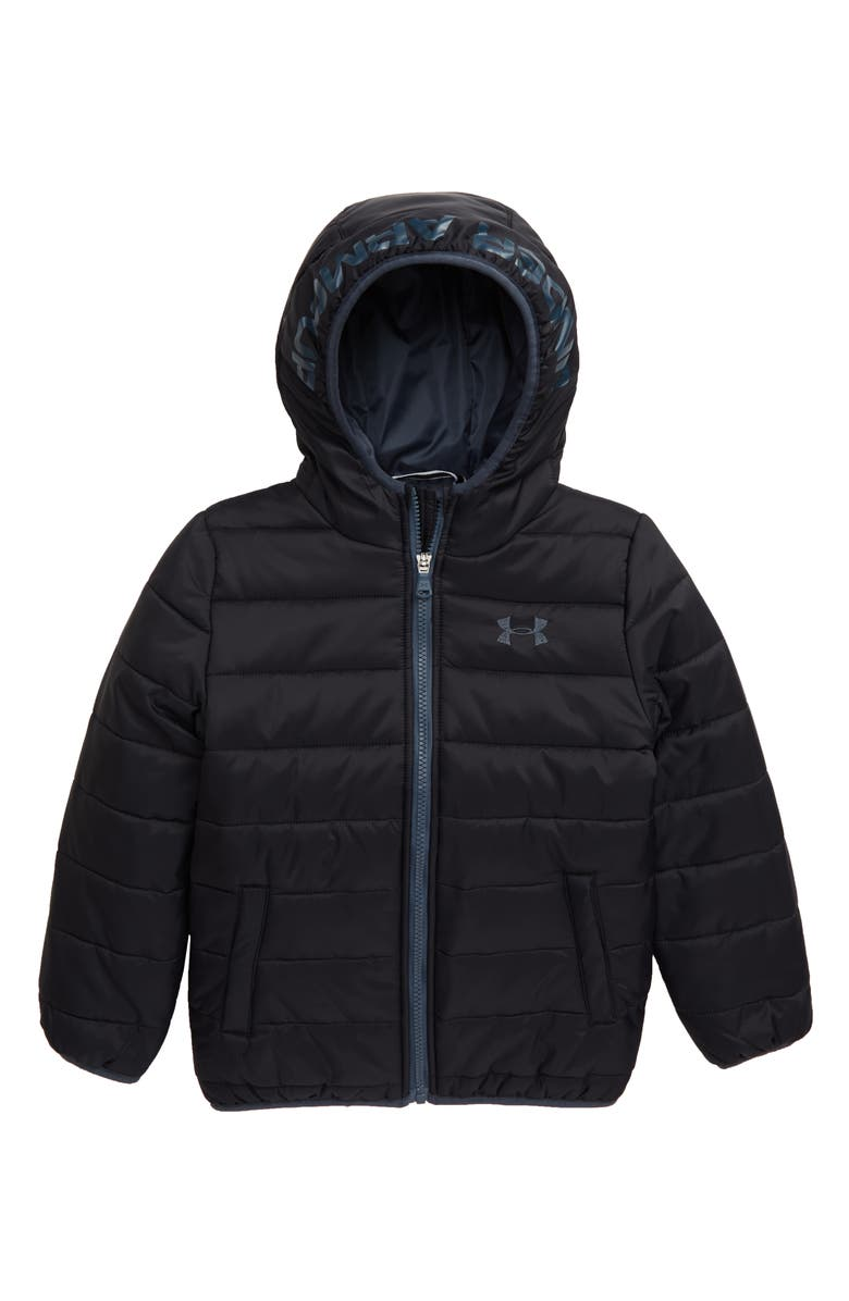 UNDER ARMOUR Pronto Storm ColdGear<sup>®</sup> Hooded Jacket, Main, color, 001