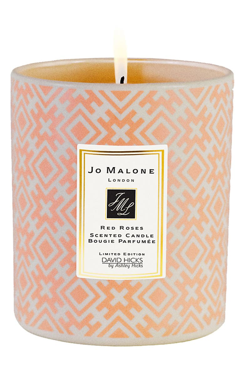 JO MALONE LONDON<SUP>™</SUP> David Hicks for Jo Malone Red Roses Decorated Candle, Main, color, 000