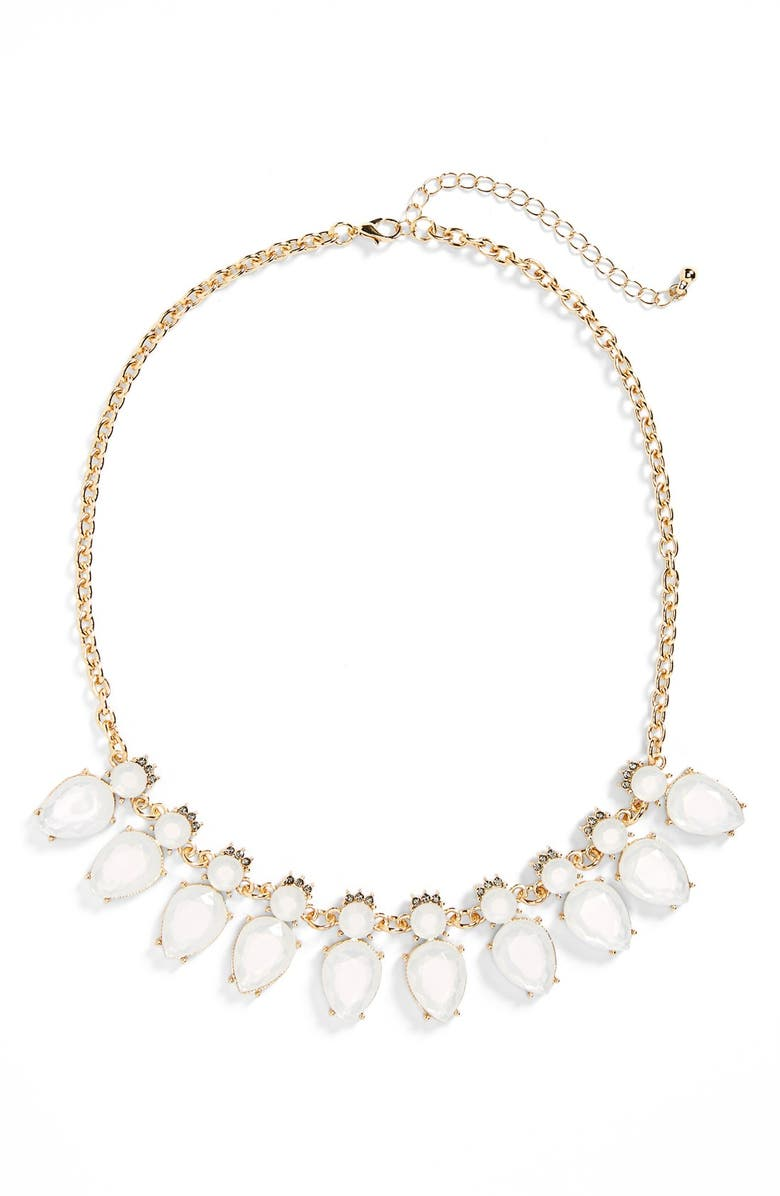 BP. Crystal & Stone Statement Necklace, Main, color, 250