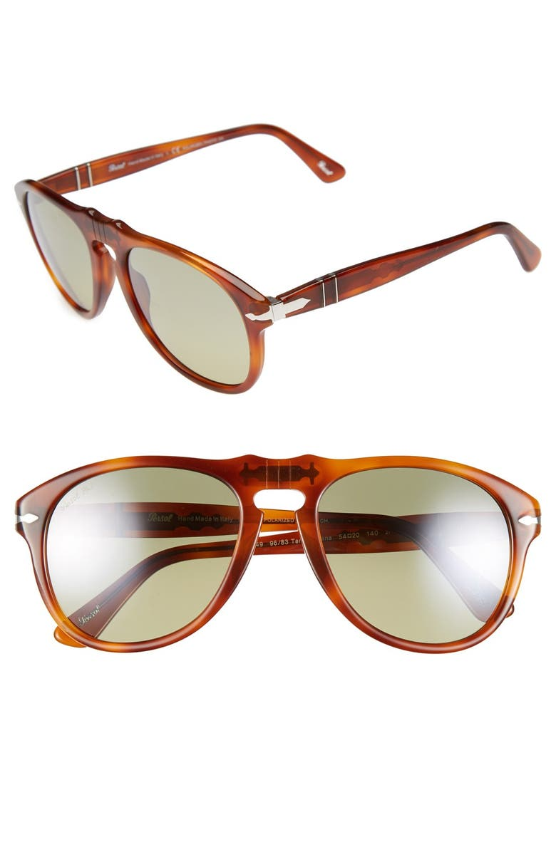 PERSOL 54mm Keyhole Sunglasses, Main, color, 220