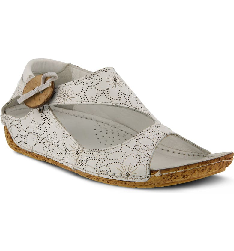 SPRING STEP Lorelle Flat, Main, color, WHITE LEATHER