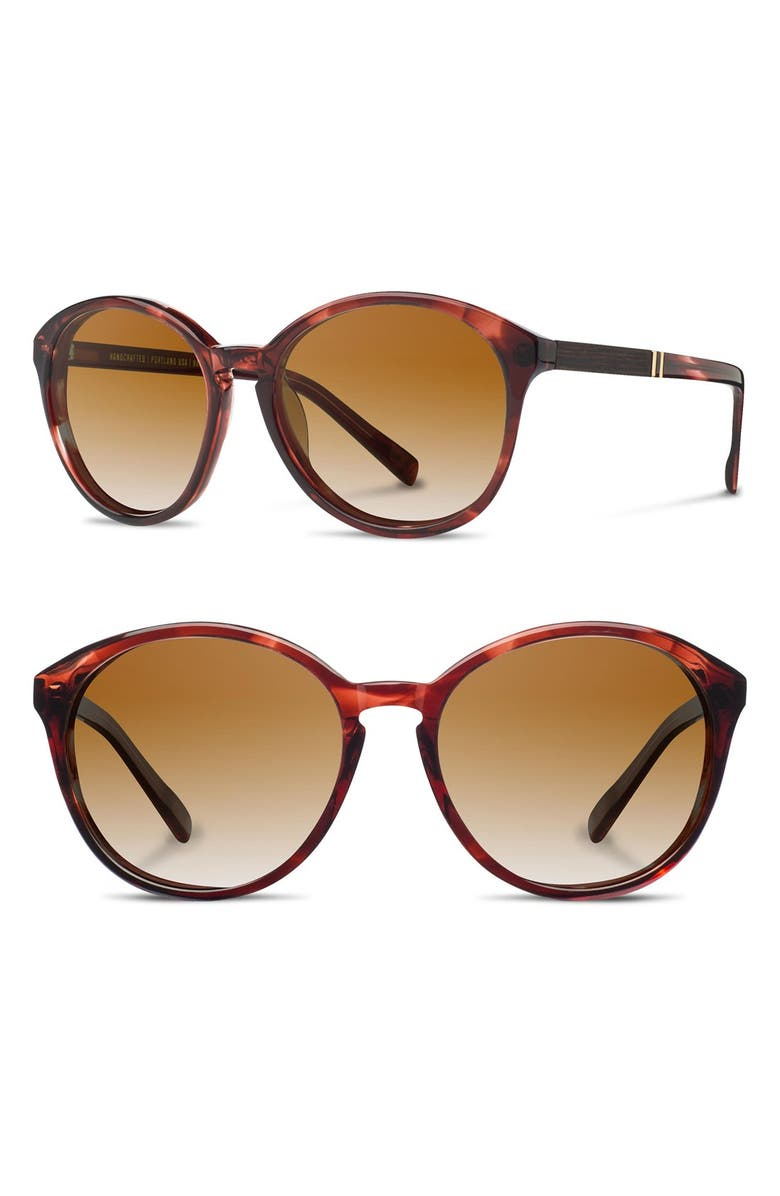 SHWOOD 'Bailey' 53mm Round Sunglasses, Main, color, 601