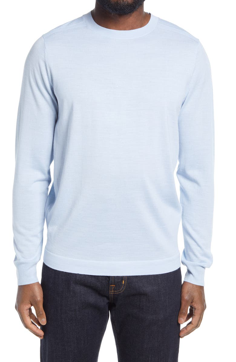 NORDSTROM CoolMax<sup>®</sup> Crewneck Sweater, Main, color, BLUE SKYWAY
