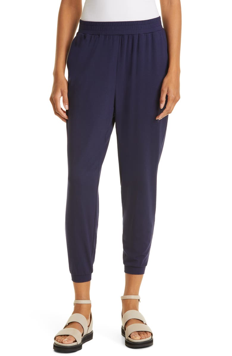 EILEEN FISHER Ankle Joggers, Main, color, MIDNIGHT