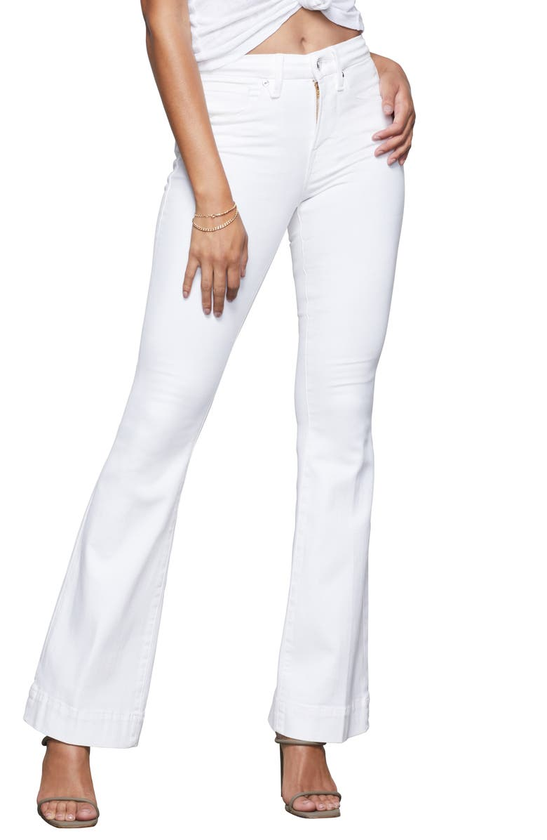 GOOD AMERICAN Good Flare Jeans, Main, color, 120