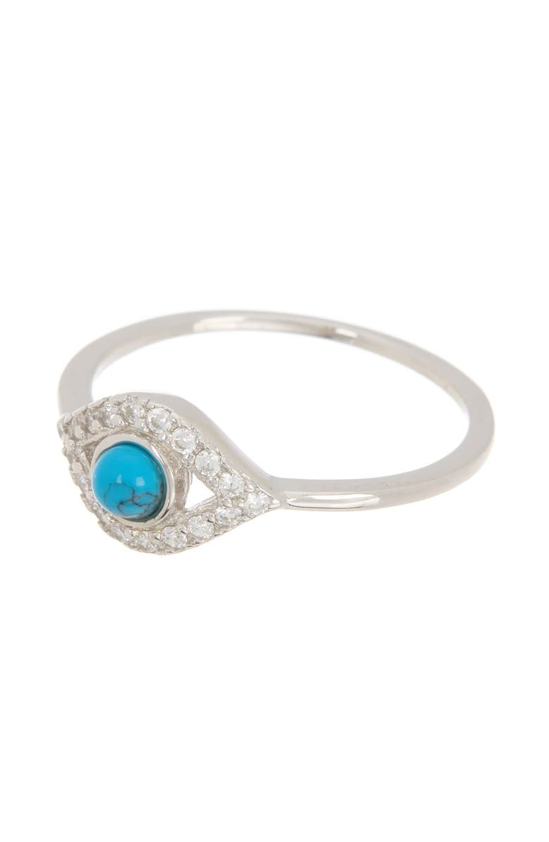 ADORNIA Evil Eye Turquoise Ring, Main, color, BLUE