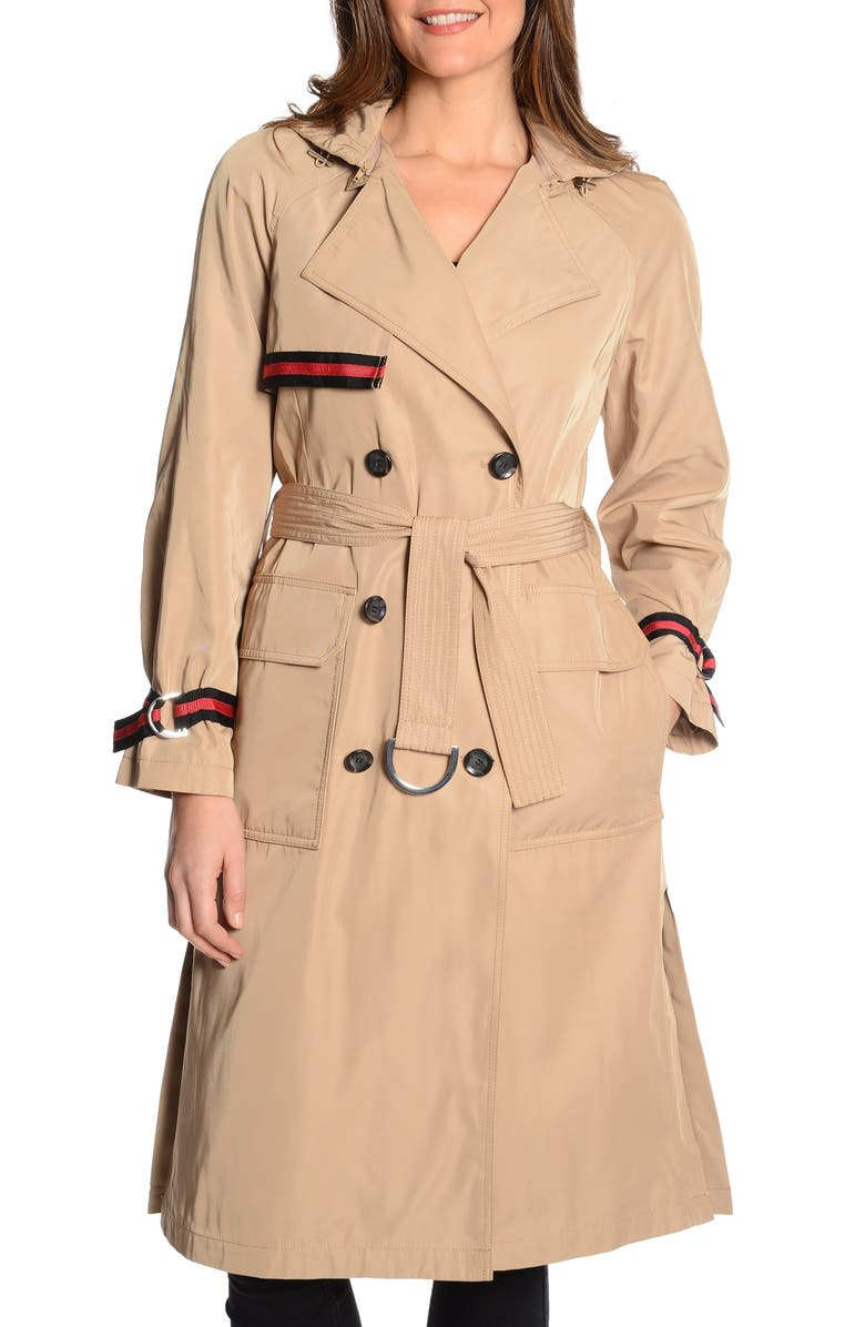 RACHEL RACHEL ROY Grosgrain Trench Coat, Main, color, 259