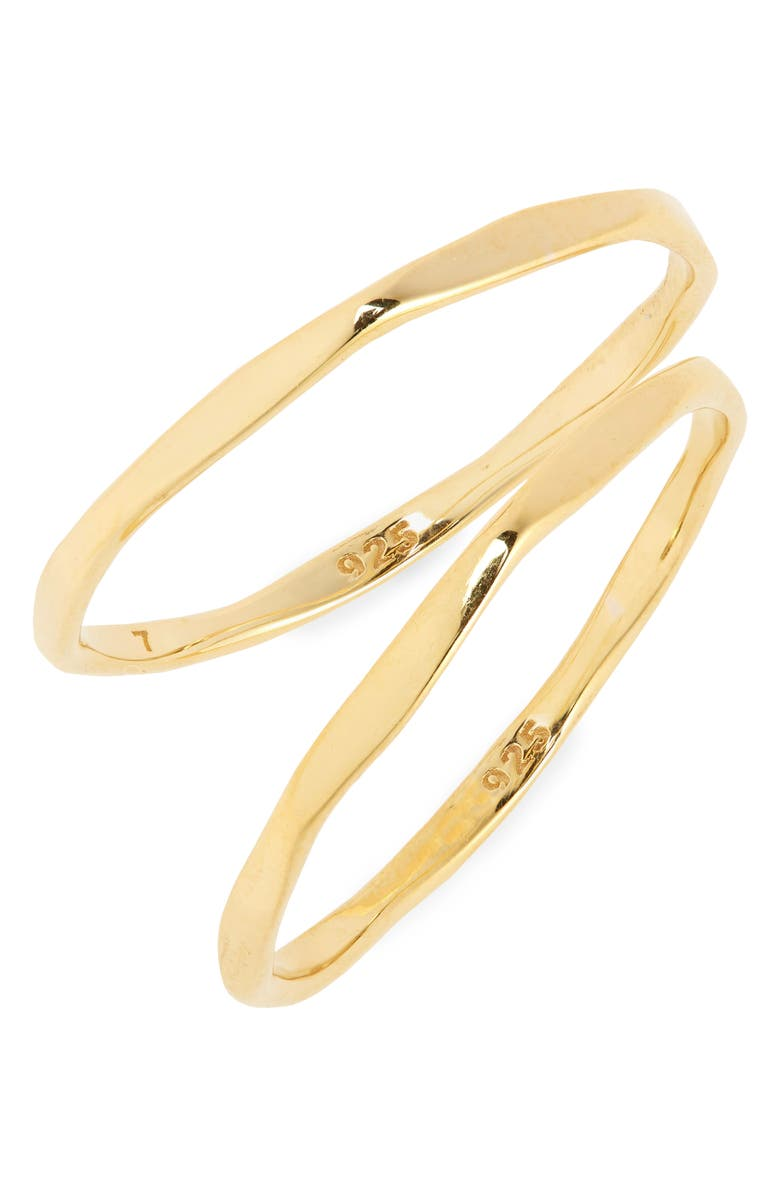 MADEWELL Delicate Collection Demi-Fine Skinny Ring Set, Main, color, VERMEIL