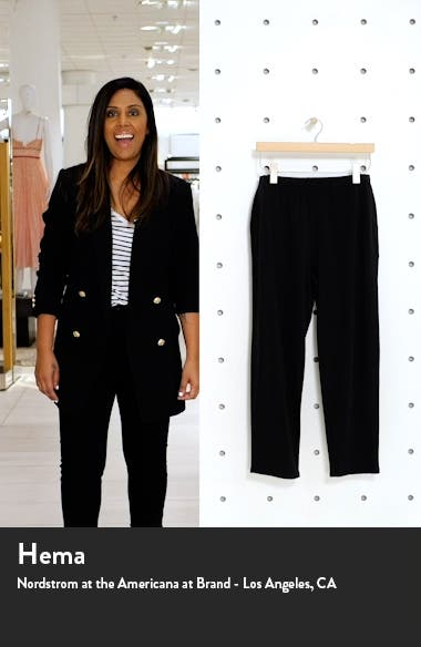 Cozy Brushed Terry Tapered Ankle Pants, sales video thumbnail