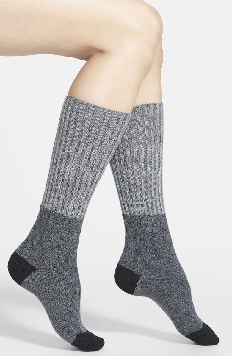 PANTHERELLA 'Clara' Slouchy Wool & Cashmere Blend Boot Socks, Main, color, 025