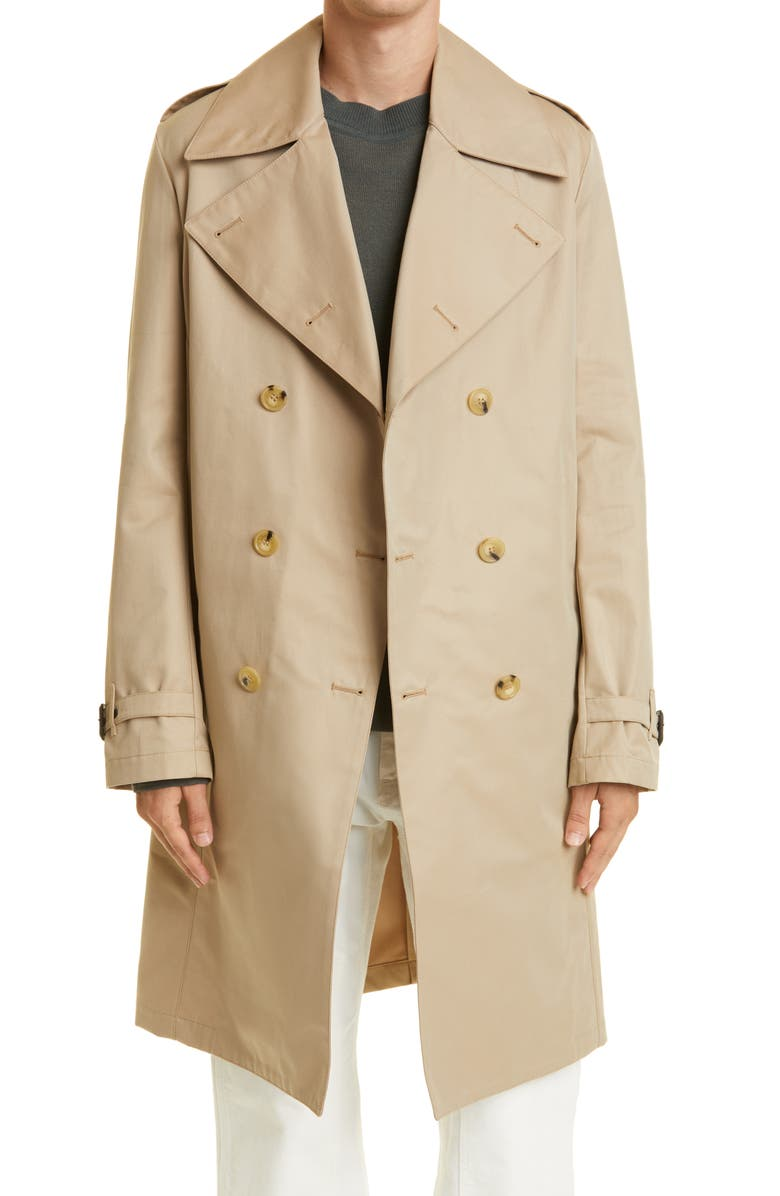 MACKINTOSH Macintosh St. Andrews Double Breasted Trench Coat, Main, color, HONEY